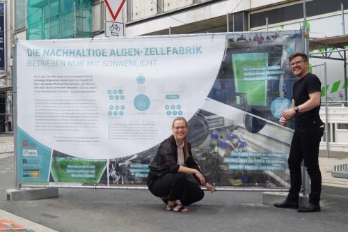Bauzaun-Ausstellung an der WissensWerkStadt Bielefeld